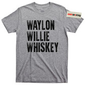 Waylon Jennings  and Willie Nelson Whiskey T Shirt
