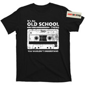 Old School Cassette Tape and Pencil Boombox Player Sony Walkman Tee T Shirt