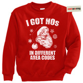 I Got Hos Santa Claus Tacky XMAS Sweater Sweatshirt