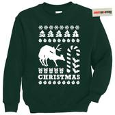 Reindeer Games Love Humping Tacky Sweater Sweatshirt
