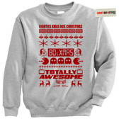 80s Eighties Throwback Tacky XMAS Christmas Sweatshirt