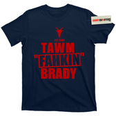 TAWM FAHKIN Tom Brady wicked hard goat champion 12 football tee t shirt