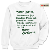 Dear Santa Claus 420 Friendly weed marijuana Tacky Sweater Sweatshirt