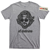 El Duderino The Big Lebowski Dude Shades Sunglasses Abides movie tee t shirt