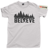 Believe in Bigfoot Sasquatch Yeti Giant Bear sighting camping photo tee t shirt