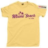 Miami South Beach Florida Vice Palm Trees 80s eighties tee t shirt