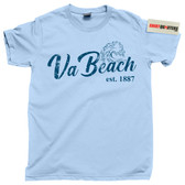 City of Virginia Beach Boardwalk Atlantic Avenue Ocean King Neptune tee t shirt