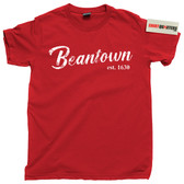 Beantown City of Boston Massachusetts Bawstan skyline tee t shirt