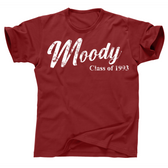 Moody Middle Throwback Distressed Print T Shirt for the Homies
