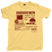 Cupertino CA California Computer Fair 1976 Retro PC Computer Vintage Tee T shirt