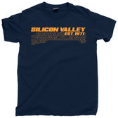 Silicon Valley Circuit Board Semiconductor California CA Cali Retro Vintage Tee T Shirt
