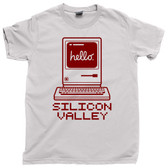 Silicon Valley Vintage PC Personal Computer hello Cupertino California Tee T Shirt
