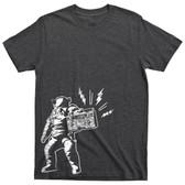 Hip Hop Astronaut NASA Moon Landing Rapper Boombox Space Tee T Shirt