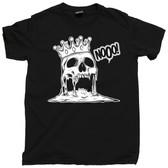 Heathen King Nothing Mortal Melting Skull Head Skeleton Death Tee T Shirt