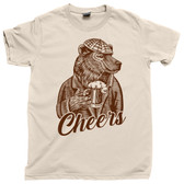 Cheers Black Brown Bear Pint Pub Ale IPA Bar Fly Brewery Norm Cliff Happy Hour Tee T Shirt