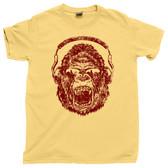Distressed Gorilla Beats DJ Dee Jay Disc Jockey Club Hip Hop Headphones Tee T Shirt