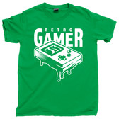 Retro Gamer Gaming Throwback Old School Vintage PC Game Console Tee T Shirt