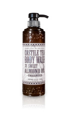 Castile tea body wash made with sweet almond oil.   No essential oil fragrance is added to this formula.