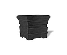 Grooved Roll Rimmed Planter