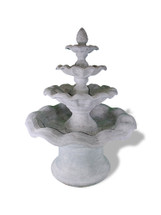 Smooth Wavy 4 Tier Fountain