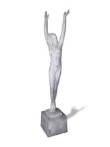 Art Deco Lady Statue - Two Hands Raised