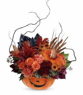 florist in Pasadena TX - Halloween Pumpkin of Flowers