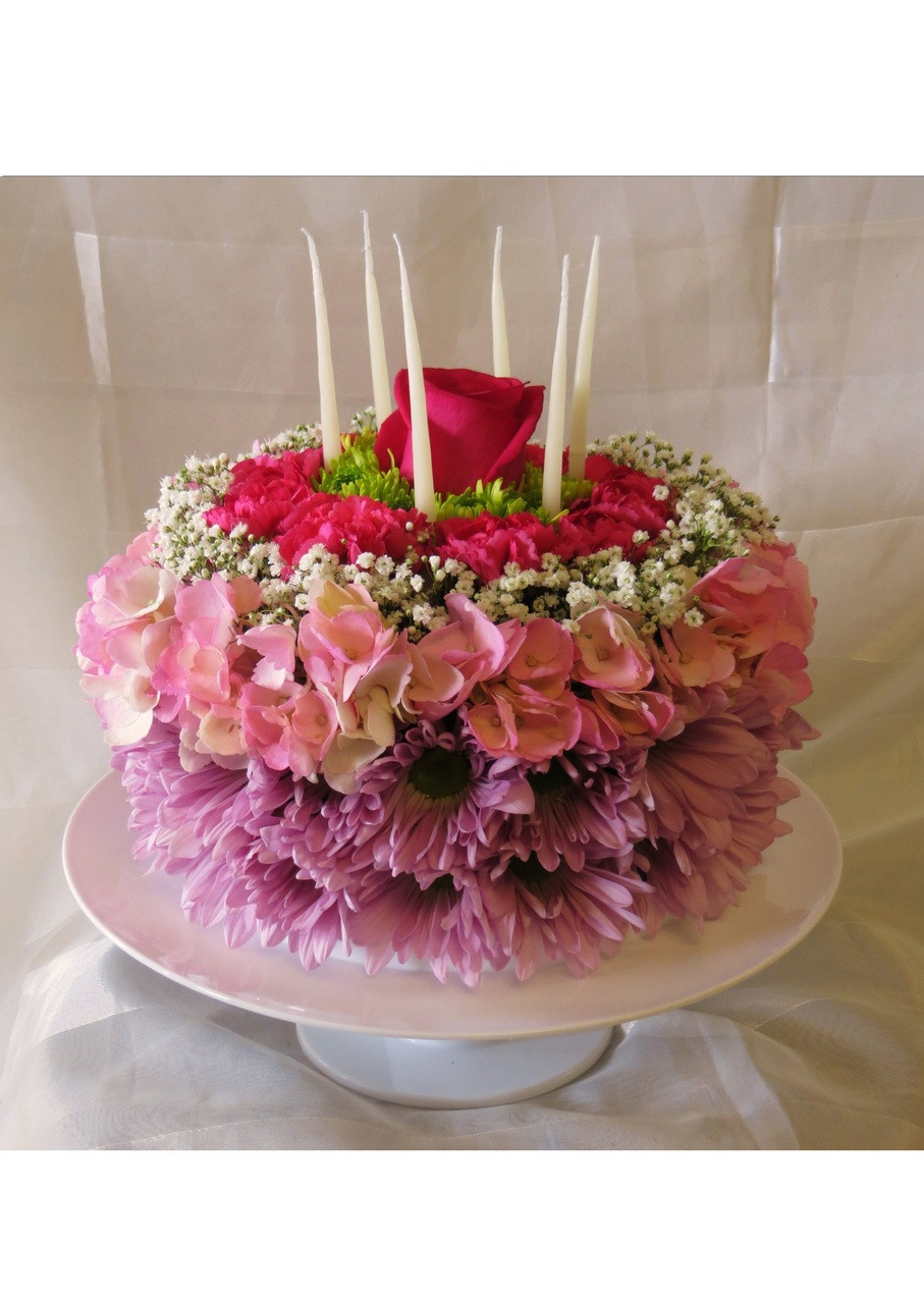 Have your cake but dont eat it birthday cake made of flowers beautiful birthday cake of flowers by enchanted florist pasadena tx birthday flowers available for daily mightylinksfo