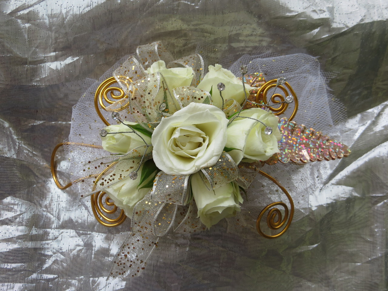 White Rose corsage for Prom | Roses, Orchids | Pasadena TX