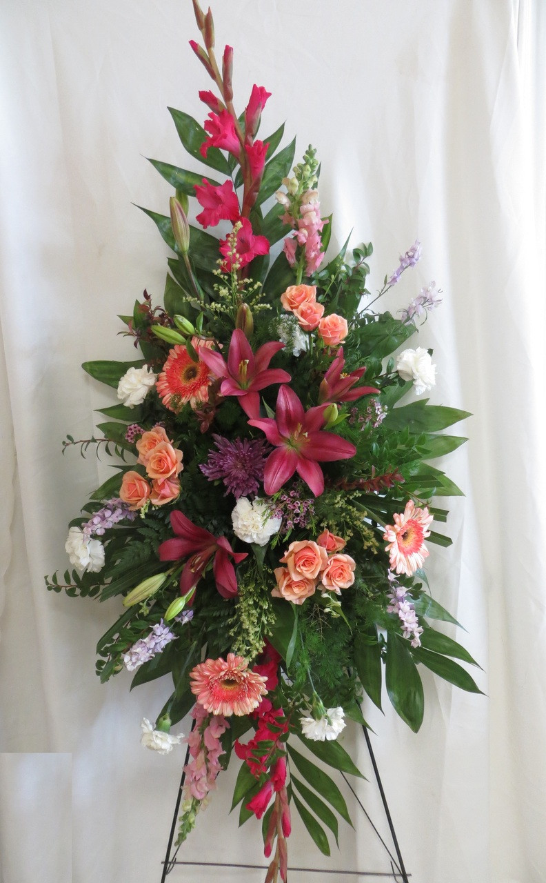 Pink Funeral Flowers Delivered In Houston Tx To Houston Funeral Homes