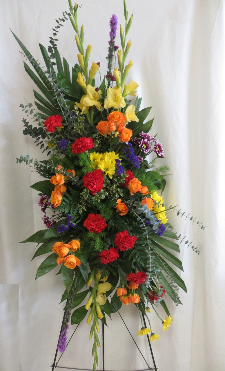 Order Bright Beautiful Funeral Spray Of Flowers In Houston Tx From