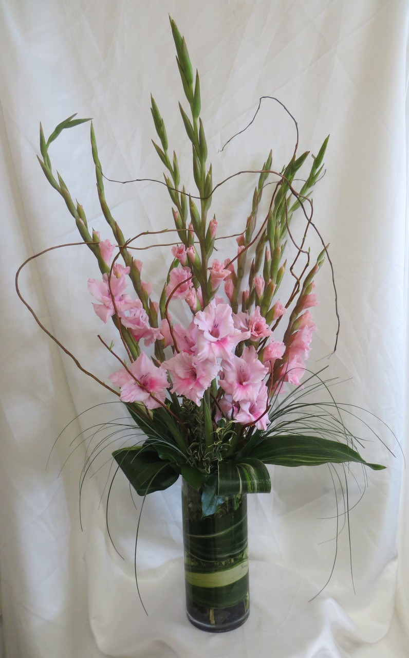 Deliver A Stylish Vase Of All Gladiolas Send Flowers Online Today