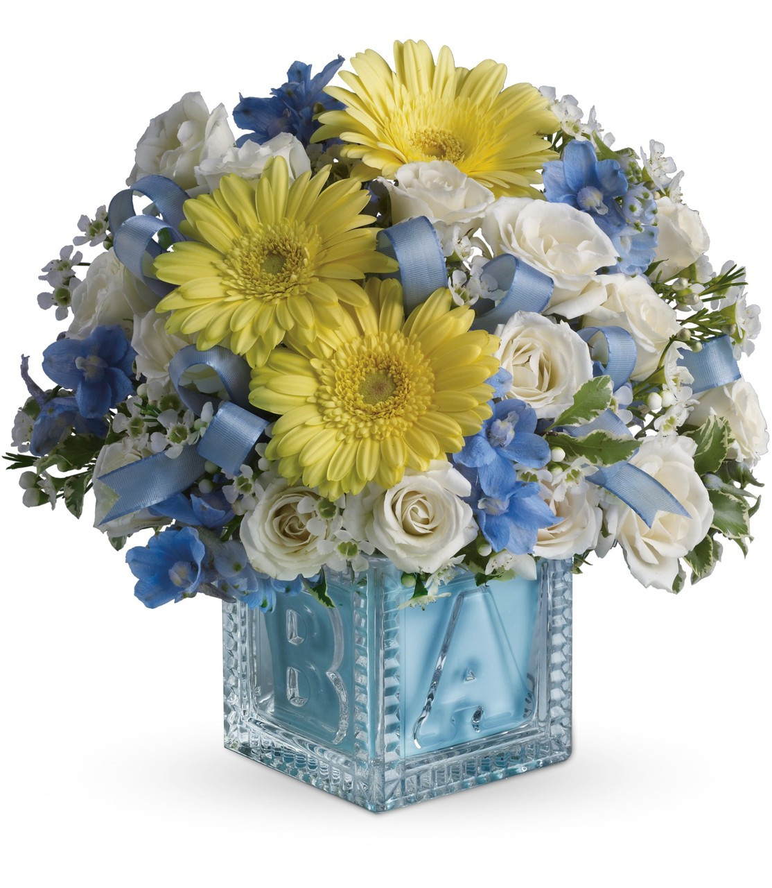 Send flowers online - Same day delivery of New Baby Boy Flowers in ...