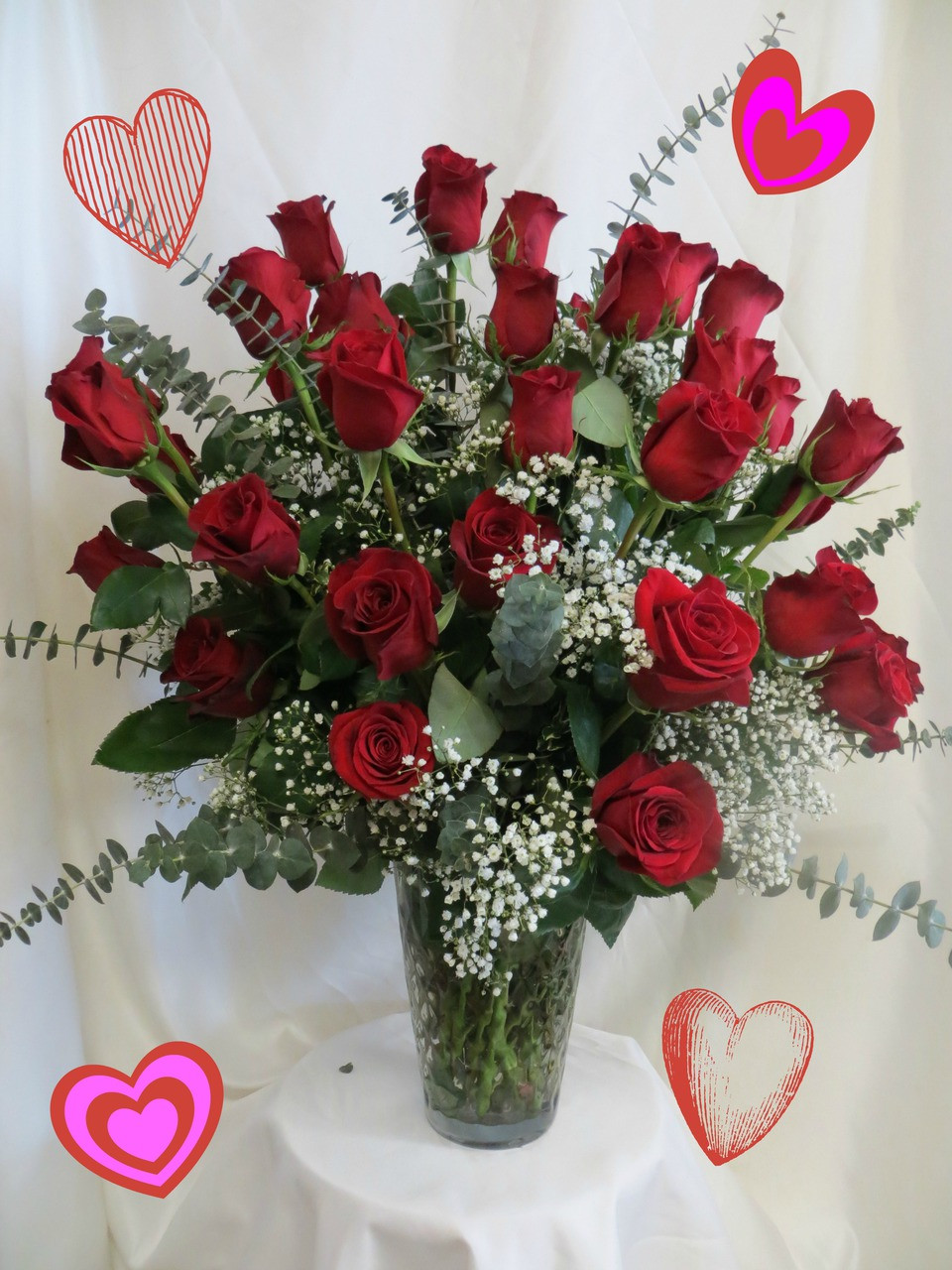 Wowzers Three Dozen Red Roses For Valentines