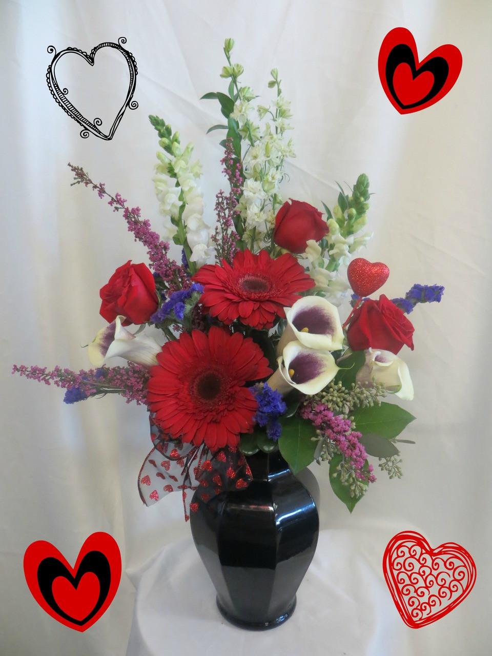 Spellbound Bouquet Valentines Day Flower Arrangements