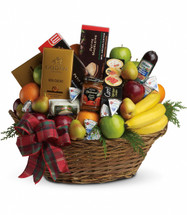 The Ultimate Christmas Food Basket from Enchanted Florist Pasadena TX. The ultimate crowd pleaser, this basket is simply overflowing with deliciousness. It's sure to make a big impression on anyone from the boss to friends and family. 135-3