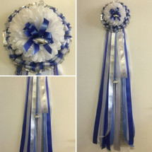 Our Sam Rayburn Single Homecoming Mum from Enchanted Florist includes a single mum flower, trinkets, and decoration in the Sam Rayburn High School colors, but can be done in the school colors of your choice. HMC107