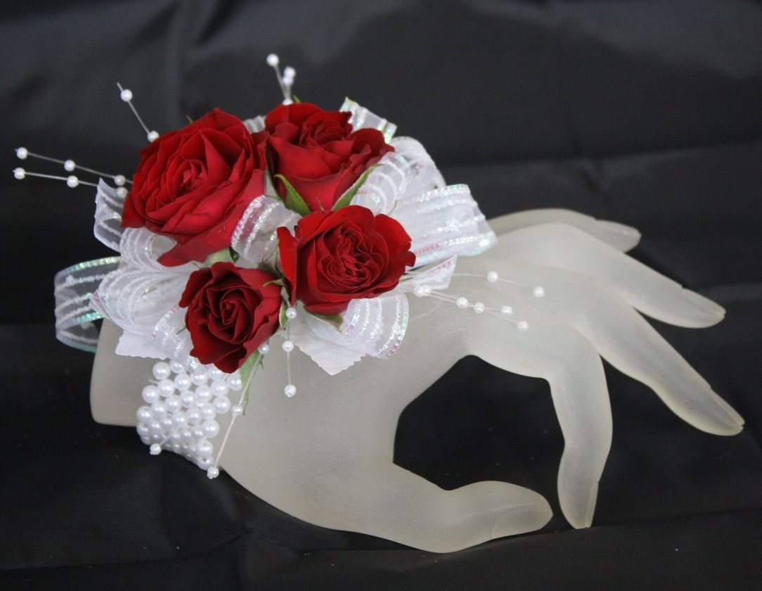 Iridescent Prom Corsage Roses Orchids Pasadena Tx