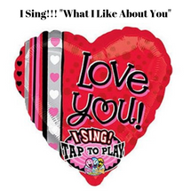 Singing Love You Mylar Balloon