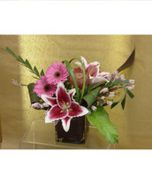 Romantic Infusion Stargazer and Pink Gerbera Flower Bouquet by Enchanted Florist Pasadena  - daily delivery to Houston, Clear Lake, Webster Texas and surrounding areas RM105