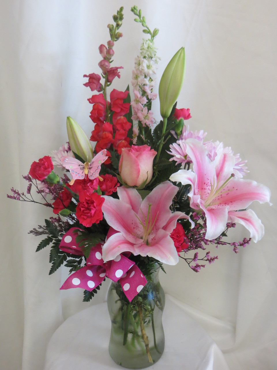 Pink Abigail Stargazer Rose Flowers Florist Delivery In Houston