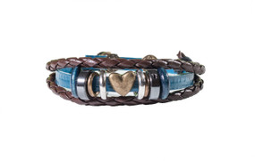 Rope Heart studded Bracelet