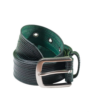 Lay-flat Green (Almost Black) Belt- Unisex, Black