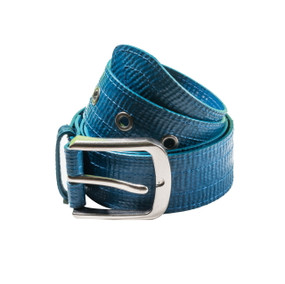 Landill Dzine Recycled Irrigation Tube Vegan Unisex Belt - Blue Size S/M