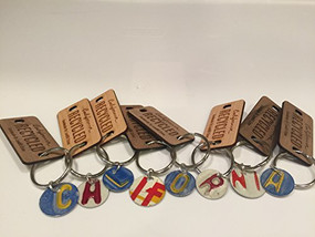 Recycled License Plate Key Chains