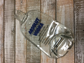Absolut Vodka Handmade melted bottle serving tray - Great one kind gifts