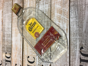 Jose Cuervo Especial Handmade melted bottle serving tray - Great one kind gifts
