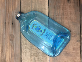 Bombay Sapphire Gin Handmade melted bottle serving tray - Great one kind gifts