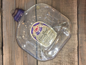 Crown Royal whiskey Handmade melted bottle serving tray - Great one of kind gift