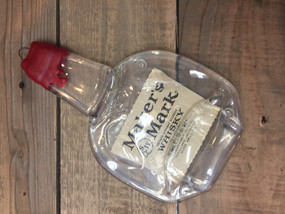 Maker's Mark whiskey Handmade melted bottle serving tray - Great one of kind gift