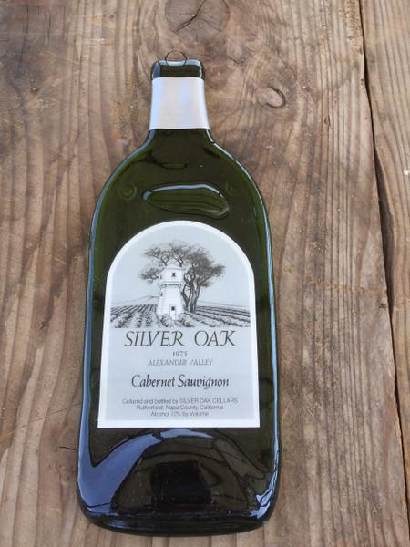 Silver Oak Wine 1975 - Silver Oak 1975 Alexander Valley Melted Wine Bottle Cheese Serving Tray - Wine Gifts
